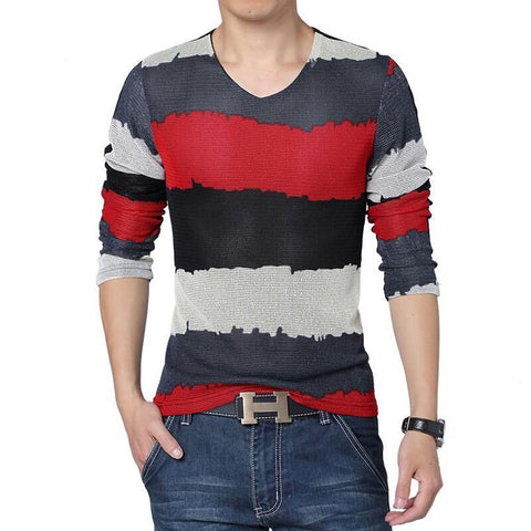 Men's Multi Color Long Sleeve T Shirt | RnD International