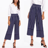Women's Full Striped Casual Pants | RnD International