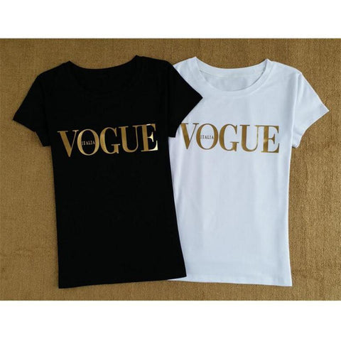 Women's Casual T Shirt with Gold Design | RnD International
