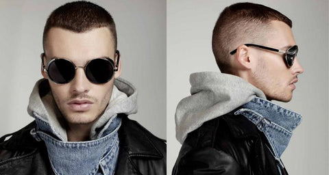 Men's Round Metal Frame Sunglasses | RnD International