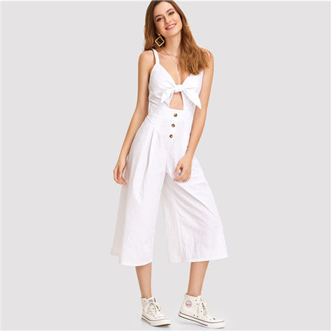 Women's White Jumpsuit | RnD International