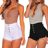 Women's High Waist Mini Short with Buttons | RnD International