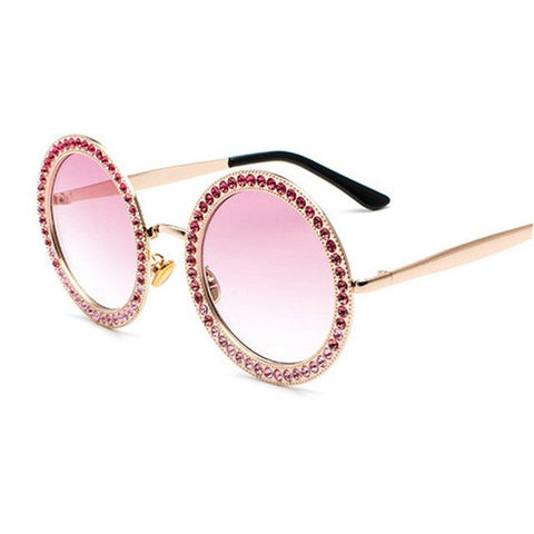 Women's Round Frame diamond Sunglasses | RnD International