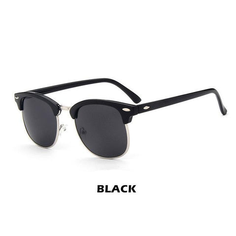 Unisex Pilot Style Half Metal Frame Sunglasses | RnD International