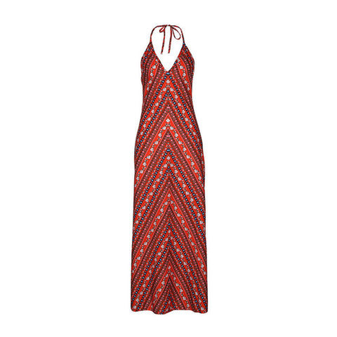 Women's Printed Beach Maxi Red Dress | RnD International