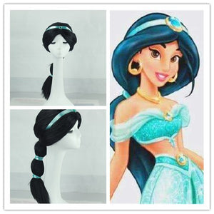 1992 Disney Movie Aladdin Princess Jasmine Cosplay Wig Cosplay for Adult Women Halloween Carnival