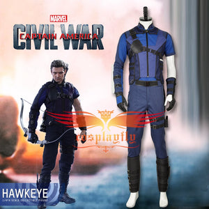 Civil War Costume Avengers Hawkeye Clint Barton Cosplay Costume Captain America 3 Costumes