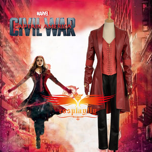 Captain America 3: Civil War Avengers Wanda Maximoff Scarlet Witch Cosplay Costume