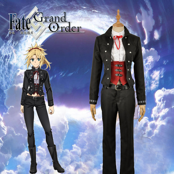 2019 Fate/Apocrypha -Epilogue Event Mordred Black Corset Uniform Cosplay Costume Adult