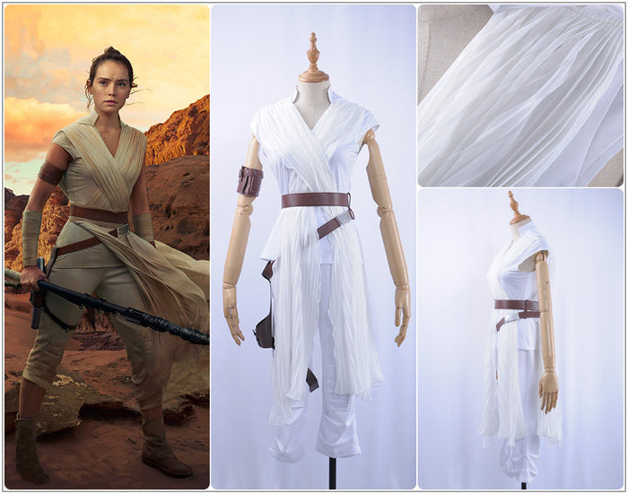 2019 Film Star Wars: The Rise of Skywalker Rey Battleframe Cosplay Costume Adult Women for Halloween Party