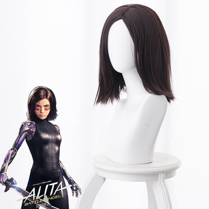 2019 Movie Alita: Battle Angel Alita Black Brown Short Cosplay Wig Cosplay for Adult Women Halloween Carnival