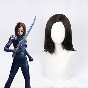 2019 Movie Alita: Battle Angel Alita Cosplay Wig for Adult Women Halloween Carnival