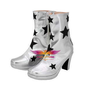 2019 Movie Rocketman Elton John Cosplay Shoes Boots Custom Made for Adult Men and Women Halloween Carnival
