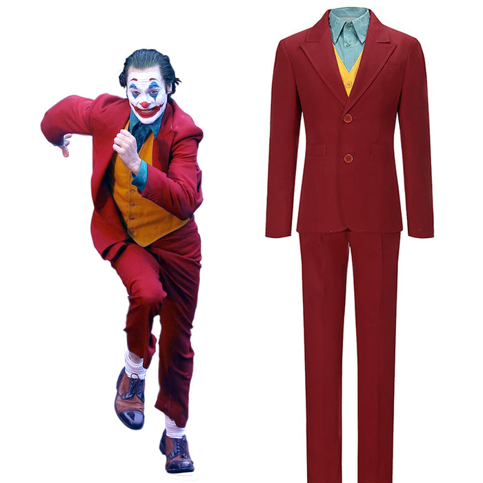 2019 New Movie DC Comics Joker Arthur Fleck Cosplay Costume Full Set Unisex For Halloween Carnival Version B