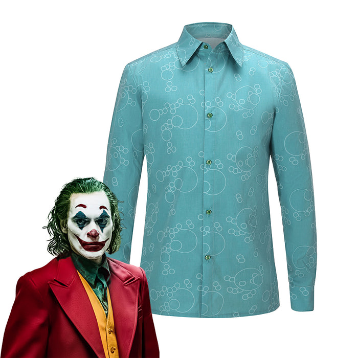 2019 New Movie DC Comics Joker Arthur Fleck Shirt Only Cosplay Costume for Halloween Carnival