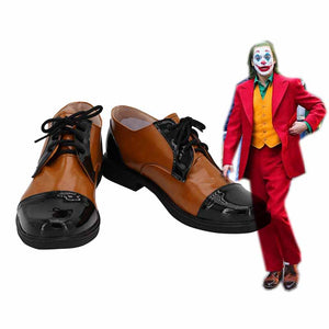 2019 New Movie Joker Arthur Fleck Cosplay Shoes Boots Custom Made for Adult Men and Women Halloween Carnival