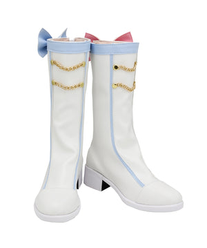 2020 Vocaloid Snow Miku Cosplay Shoes Boots Custom Made for Adult Men and Women Halloween Carnival