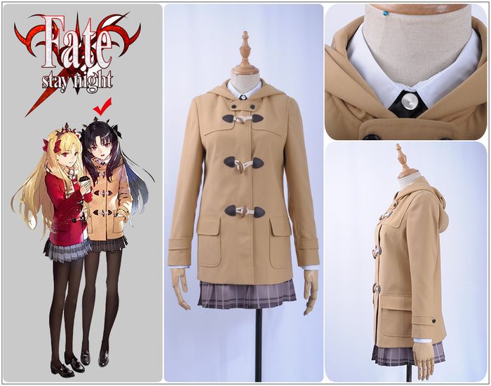 Fate Grand Order FGO Rider Ishtar Tohsaka Rin Cosplay Costume Women Winter Outfit