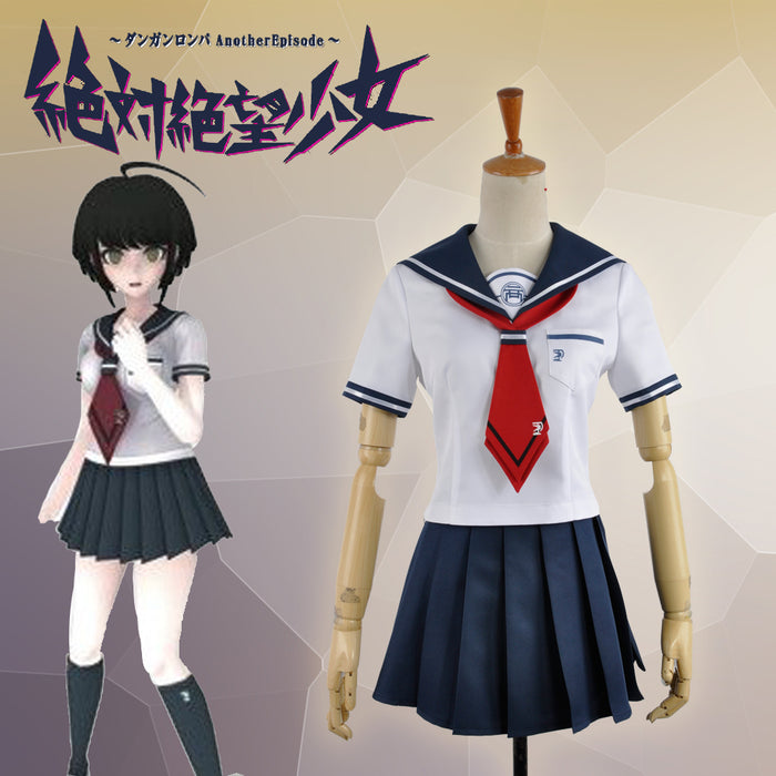 Absolute Despair Girl: Another Episode Naegi Komaru Danganronpa Cosplay Costume Adult Women Outfit Sailor Suit
