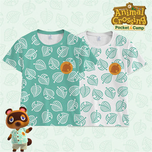 Animal Crossing: New Horizons Timmy/Tommy Tom Nook Cosplay Costume Kids/Adult Summer T-Shirt