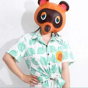 Animal Crossing: New Horizons Timmy/Tommy Tom Nook Kids/Adult Shirt Cosplay Costume