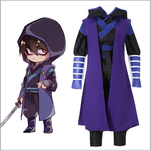Anime Scissor Seven/Killer Seven Han Fu Cosplay Costume Children Kids Size Carnival Halloween