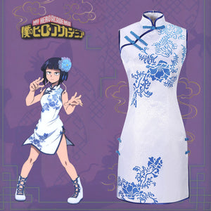 Anime My Hero Academia/Boku no Hero Academia Jiro Kyoka Gongfu Cheongsam Cosplay Costume Custom Made Sexy Dress