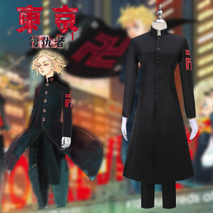 Anime Tokyo Revengers Bad Boy Uniform Cosplay Costume Version B Custom Made Outfit Black Trench Halloween Carnival