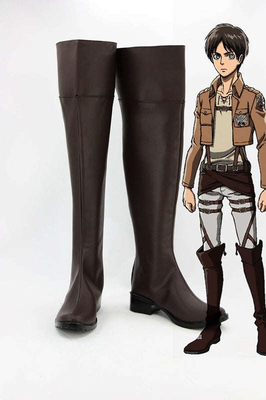 Anime Attack on Titan Eren Jaeger Cosplay Shoes Boots Custom Made for Adult Men and Women Halloween Carnival
