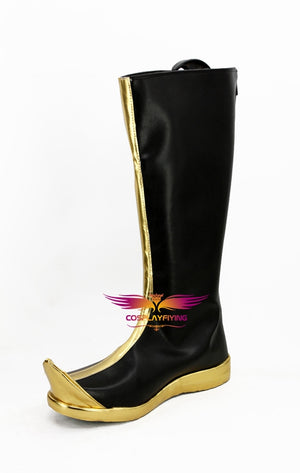 Anime Avatar: The Last Airbender Zuko Black Cosplay Shoes Boots Custom Made for Adult Men and Women Halloween Carnival