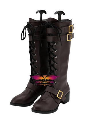 Anime BanG Dream! 7th-LIVE Roselia Cosplay Shoes Boots Custom Made for Adult Men and Women Halloween Carnival