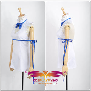 Anime DanMachi Hestia Girls Sexy White Dress Cosplay Costume Custom Made for Adult Women Outfit Carnival Halloween
