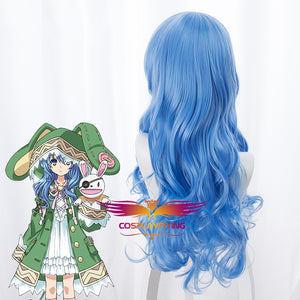 Anime Date A Live Yoshino 70cm Long Curly Wavy Blue Cosplay Wig Cosplay for Girls Adult Women Halloween Carnival Party