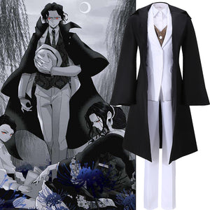 Anime Demon Slayer: Kimetsu no Yaiba Kibutsuji Muzan Comics Cosplay Costume Custom Made Adult Halloween Carnival Party