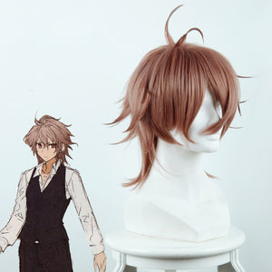 Anime Fate/Grand Order/Apocrypha Sieg Short Brown Cosplay Wig Cosplay for Adult Women Halloween Carnival