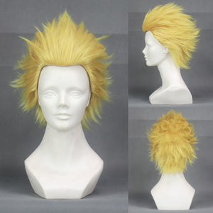 Anime Fate/Stay Night Zero Game FGO Archer Gilgamesh Golden Short Slicked Cosplay Wig Cosplay for Adult Women Halloween Carnival