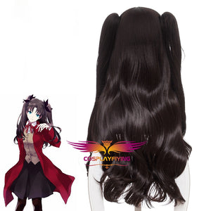 Anime Fate/stay night/EXTRA Tohsaka Rin Wave Ponytails Cosplay Wig Cosplay for Adult Women Halloween Carnival