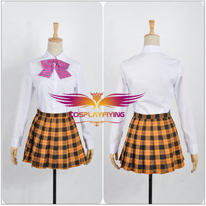 Food Wars: Shokugeki no Soma Erina Nakiri School Uniform Cosplay Costume for Halloween