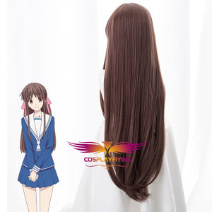 Anime Fruits Basket Tohru Honda Long Straight Brown Cosplay Wig Cosplay for Girls Adult Women Halloween Carnival Party