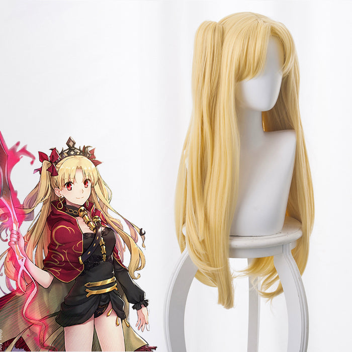 Anime Game Fate/Grand Order FGO Irkalla Ereshkigal Curly Light Blonde Cosplay Wig Cosplay for Adult Women Halloween Carnival
