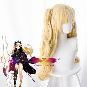 Anime Game Fate/Grand Order FGO Irkalla Ereshkigal Curly Light Yellow Cosplay Wig Cosplay for Adult Women Halloween Carnival