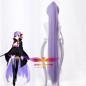 Anime Game Fate/Grand Order FGO Matou Sakura Light Purple Ponytail Long Cosplay Wig Cosplay for Adult Women Halloween Carnival