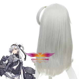 Anime Game Kantai Collection Suzutsuki Silver Long Cosplay Wig Cosplay for Adult Women Halloween Carnival