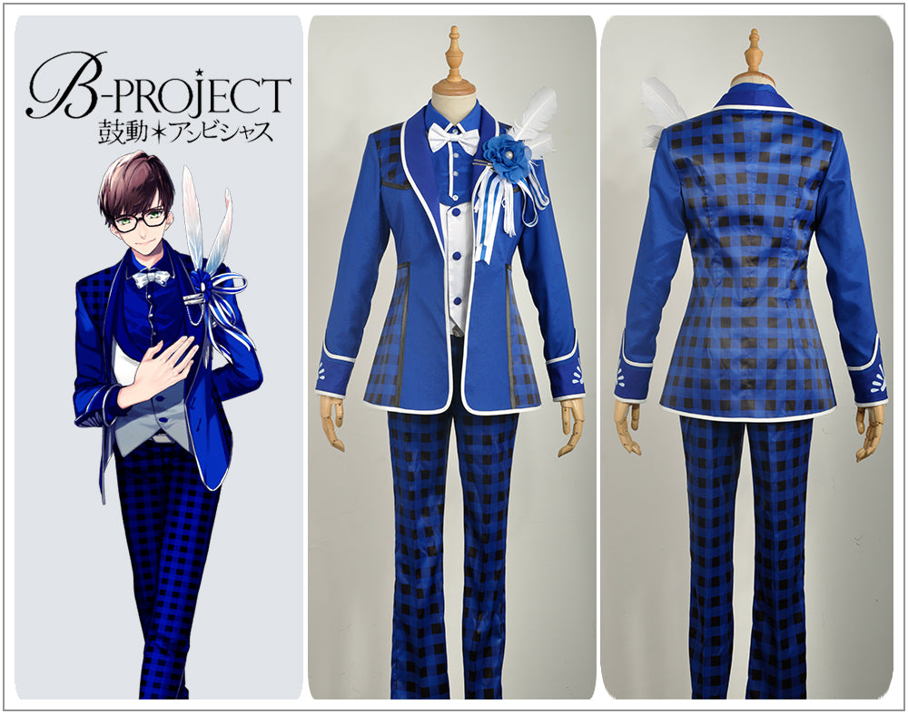 Anime Game Virtual Idol Group B,project MOONS Sekimura Mikado Stage Uniform  Male Cosplay Costume Custom Made for Adult Men Carnival Halloween