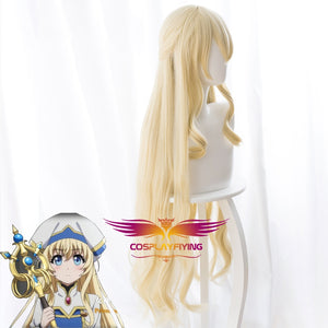 Anime Goblin Slayer Priestess Yellow Long Straight 100cm Cosplay Wig Cosplay for Girls Adult Women Halloween Carnival Party