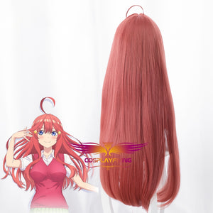 Anime Gotoubun No Hanayome The Quintessential Quintuplets Itsuki Nakano Red Long Straight Cosplay Wig Cosplay for Girls Adult Women Halloween Carnival Party