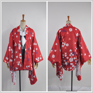 Anime Hanayamata Yaya Sasamei Red Flower Printed Kimono Female Cosplay Costume Custom Made for Adult Women Carnival Halloween