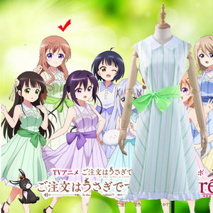 Anime Is the order a rabbit? x Atre Summer Resort Hoto Moka Cosplay Costume