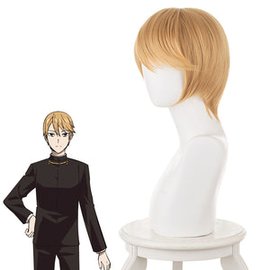 Anime Kaguya-sama: Love Is War Shirogane Miyuki Yellow Short Cosplay Wig Cosplay for Boys Adult Men Halloween Carnival Party