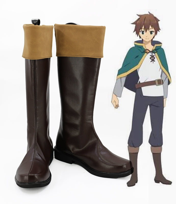 Anime Kono Subarashii Sekai ni Shukufuku wo! Satou Kazuma Cosplay Shoes Boots Custom Made for Adult Men and Women Halloween Carnival